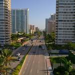 Drone shot S Ocean Drive Hallandale Beach FL