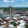 Aerial video Virginia Department of Education buidling downtown Richmond 4k