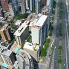 Aerial drone footage coastal Chicago