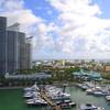 Amazing Miami Beach marina scene