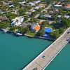 Aerial video luxury upscale neighborhood Miami Beach