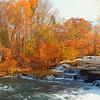 Stock video River to Niagara Falls