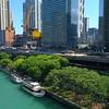 Aerial video Chicago Riverwalk Downtown 4k