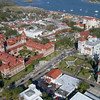 Aerial video Flagler College and St Augustine