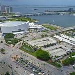 Aerial video American Airlines AA Arena 4k