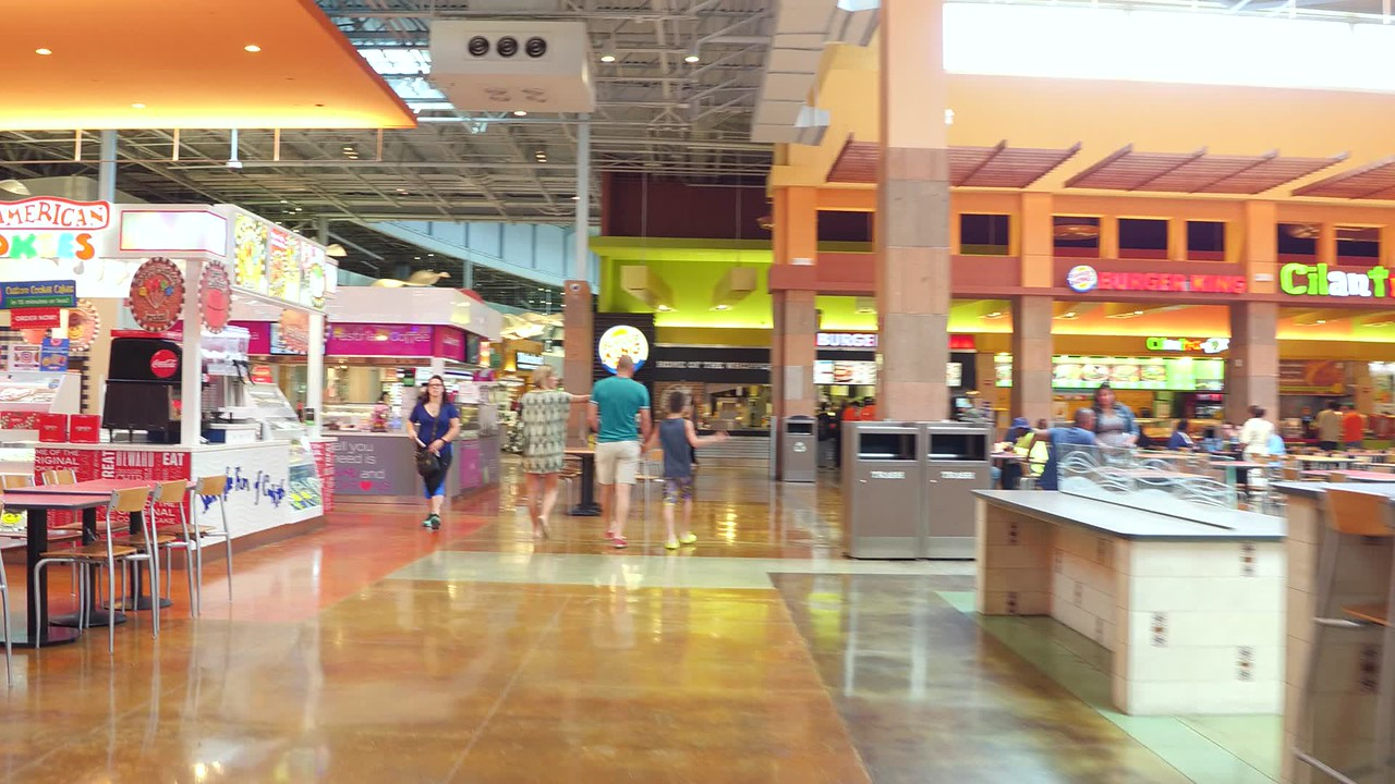 Dolphin Mall food court Miami Florida 4k