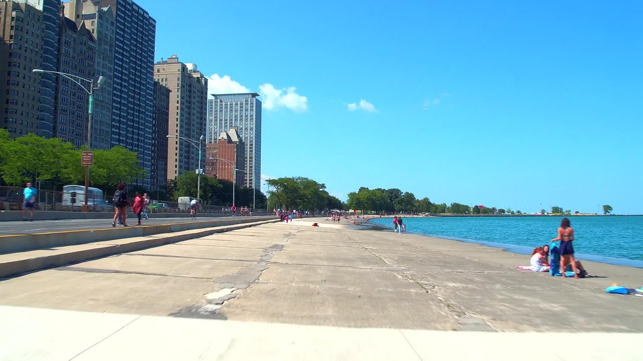 Stock video Chicago Summer lake scene