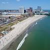 Aerial drone video tourism in Atlantic Beach NJ USA 4k