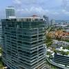 Aerial video Miami Beach condominiums and yachts 4k 60p