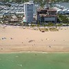Aerial helicopter tour of Fort Lauderdale Beach