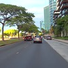 Driving on Ala Moana Boulevard Honolulu Hawaii