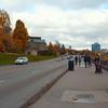 Scenic walkway at Niagara Falls Canada