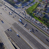 Aerial video of the highway at an angle