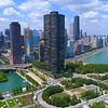 Aerial video Lake Point Tower Condominium Chicago