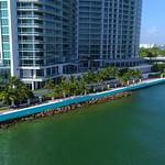Aerial video Bal Harbour beach access road