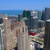 Aerial video Tribune Tower Chicago 4k 60p