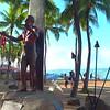 Stock video of Statue Duke Paoa Kahanamoku Hawaii 4k