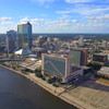 Downtown Jacksonville aerial video