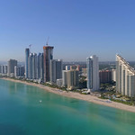 Drone aerial video tour Condominium buildings in Sunny Isles