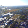 Aerial video ferris wheel Orlando Eye