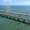 Slow motion Overseas Highway Florida Keys