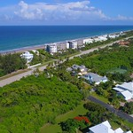 Aerial video Stuart Beaches Hutchinson Island Florida drone 4k