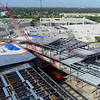 Aerial tour footage of Aventura Mall under expansion construction