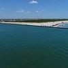 Aerial video of Brigantine Beach 4k