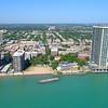 Chicago buildings Edgewater Lake Michigan 4k