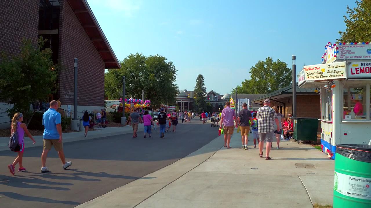 Motion ground footage Iowa State Fair 4k