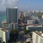 Aerial shot Hallandale Beach FL