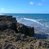 Hutchinson Island rock cliff on the beach 4k