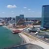 Drone establishing shot TEN Resort Atlantic City 4k