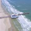 Aerial video tour Daytona Pier 4k uhd