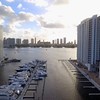Aerial footage of waterfront condominiums