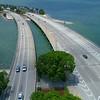 Aerial drone footage of Key Biscayne Miami FL 4k 60p