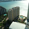 Stock aerial drone video Mandarin Oriental Brickell Key