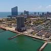Aerial video Ne Jersey Atlantic Beach 4k