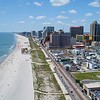 Aerial Atlantic City casinos on the beach 4k drone