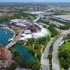 Aerial video Universal City Walk Orlando 4k