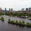 Aerial Boston The Esplanade Charles River community boating 4k 60p