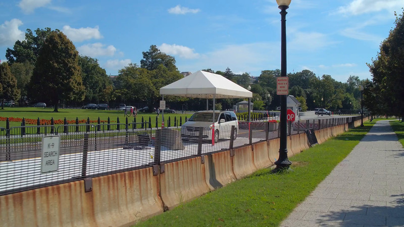 White House DC perimeter  gate