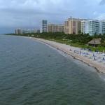 Aerial footage of Key Biscayne Florida 4k