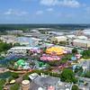 Aerial video Seuss Landing Orlando Universal 4k
