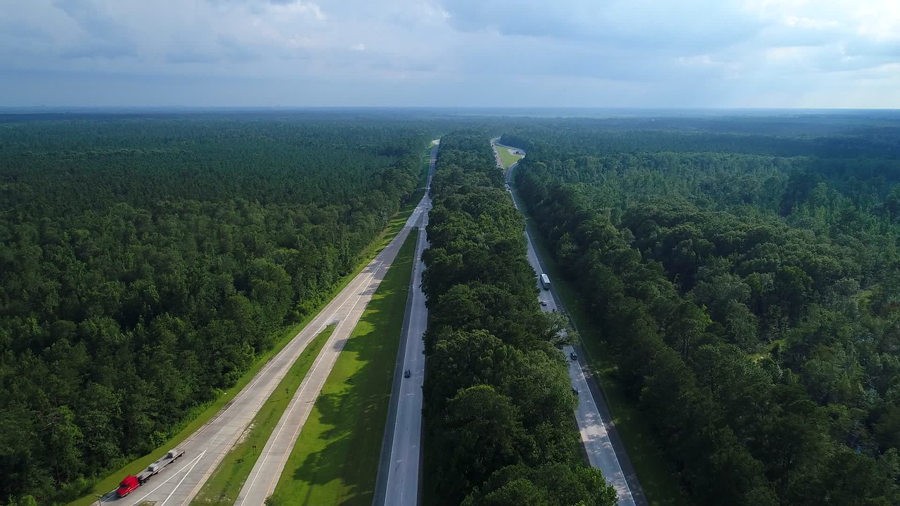 Aerial video north Florida highway i95