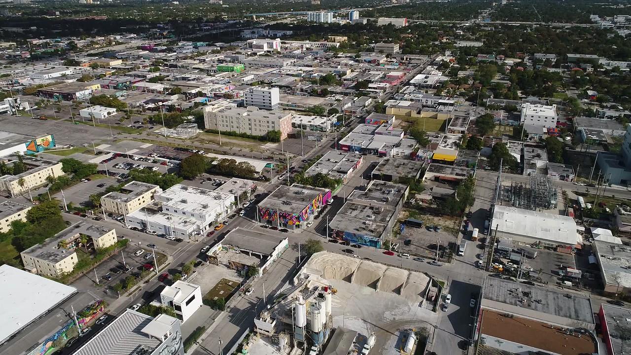 Helicopter tour Wynwood Miami Florida