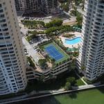Aerial 4k video of Brickell Key condominiums