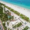 Aerial drone footage Gay Pride Miami Beach