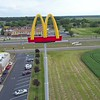 Aerial video Mcdonalds arch