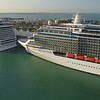 Stock video of Port Miami cruise ships